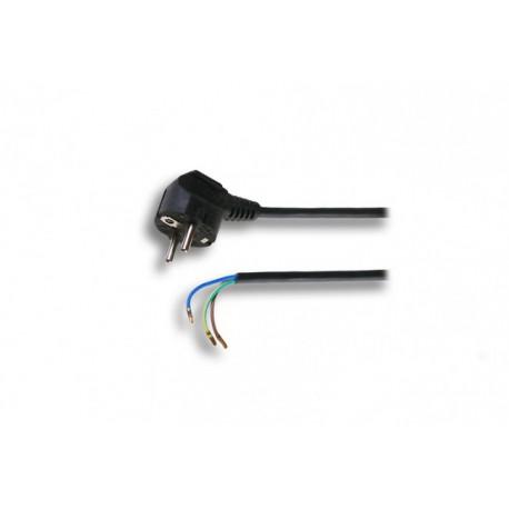 Flexo kabel 2m/3x0.75 černá šňůra/PVC
